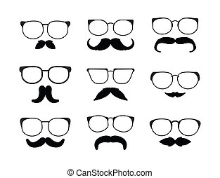 moustache eyeglass
