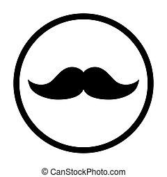 Moustache flat icon symbol. Vector illustration isolated on white background