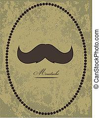 moustache, fond