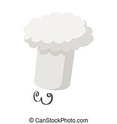 moustache, icône, chapeau, chef cuistot