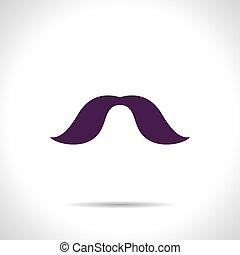 moustache, icône