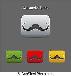 moustache, icônes