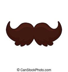 moustache icon on white background