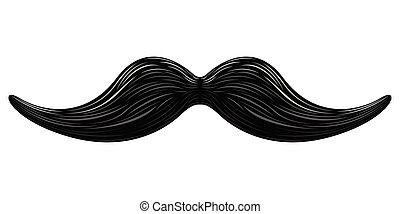 moustache, isolé, icône