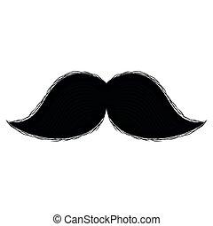 moustache, isolé, image
