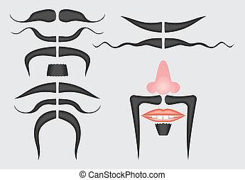 moustache, modèle, seamless