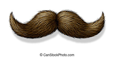 Moustache On White Background - Moustache on a white...