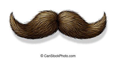 Moustache On White Background - Moustache on a white ...