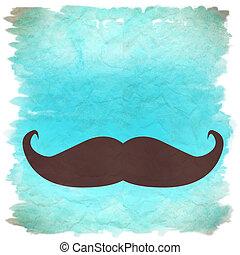 moustache retro background - blue moustache retro background