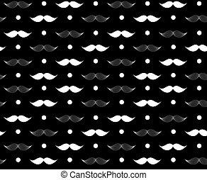 Moustache Seamless Pattern Vector Illustration EPS10