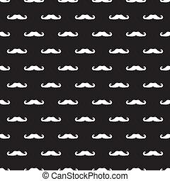 moustache, seamless, vecteur, fond