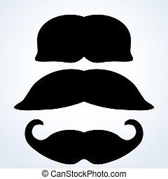 moustache, set.