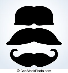 moustache set.vector illustration.