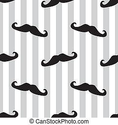 moustache, vecteur, seamless, fond