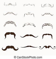 moustache Vector Set