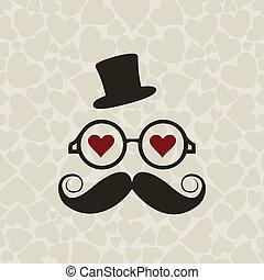 moustached, mr.