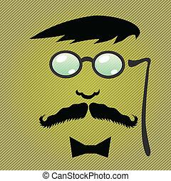 moustaches, accessoires