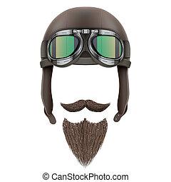 moustaches., biker, motociclista, barba