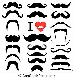 moustaches, conjunto