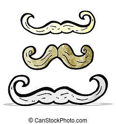 moustaches, dessin animé