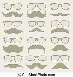 moustaches, ensemble