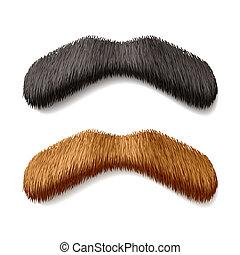 moustaches, faux