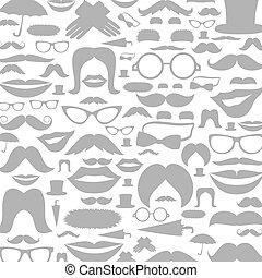 moustaches, fond