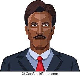 moustaches, illustration, vecteur, fond, blanc, homme, beau