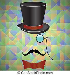 moustaches, retro, accessoires