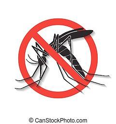 moustique, signe, anti, vecteur