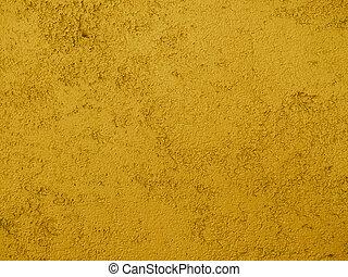 moutarde, fond jaune, texture, grossier