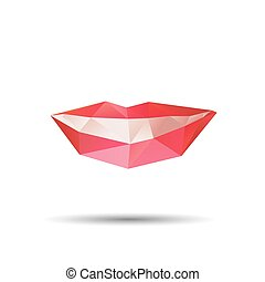 Mouth Abstract isolated on a white background