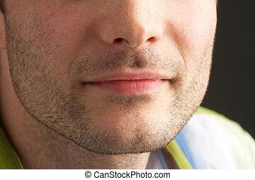 mouth - Cantle of a manly face
