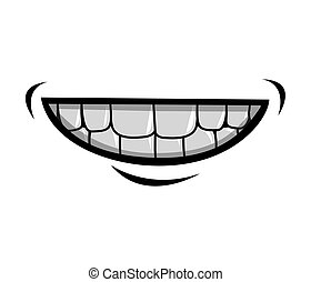 mouth cartoon icon - silhouette of cartoon mouth with teeths...