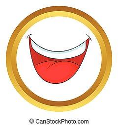 Mouth clown vector icon