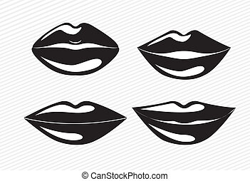 mouth design over white  background vector illustration