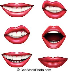 Mouth Expressions Realistic Set