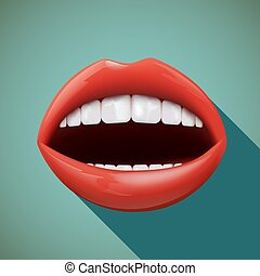 mouth., illustration., humain, stockage