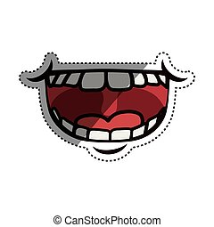 Mouth laughing cartoon