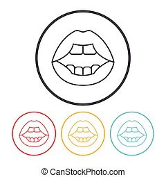 mouth line icon