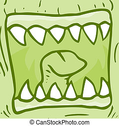 Mouth monster - Creative design fo mouth monster