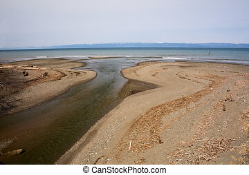 Mouth of River in Puget Sound