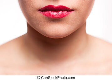 mouth red lips
