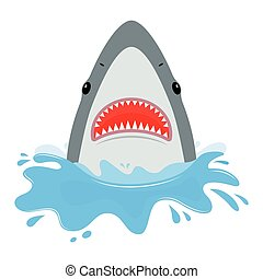 mouth., requin, ouvert