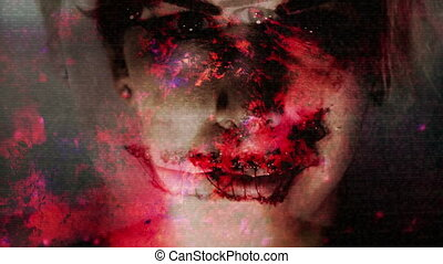 Mouth torn CG and Stop motion mixed media speak no evil...
