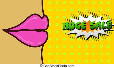 Mouth with comic bubble huge sale - Animation of mouth with ...