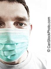 mouthguard, doutor, closeup