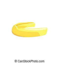Mouthguard protect teeth. Colorful cartoon vector...