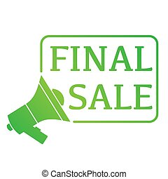 Mouthpiece final sale - Green mouthpiece symbol isolated on...
