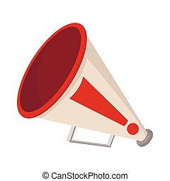Mouthpiece icon, cartoon style, on white